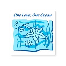 "onelove oneocean Square Sticker 3"" x 3"""