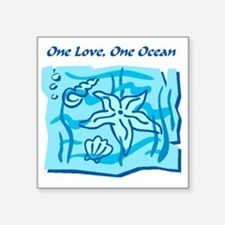 "onelove oneocean Square Sticker 3"" x 3"""