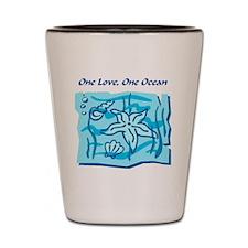 onelove oneocean Shot Glass