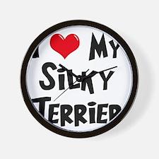 I-Love-My-Silky-Terrier Wall Clock