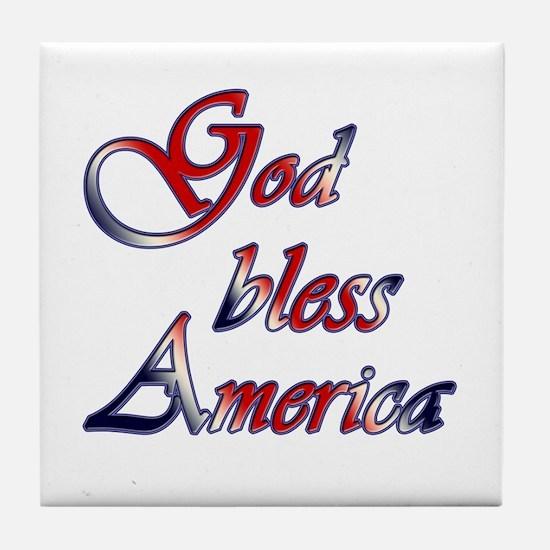 God Bless America Tile Coaster