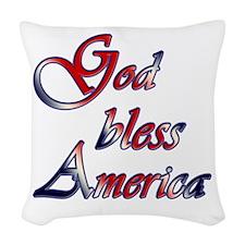 God Bless America Woven Throw Pillow