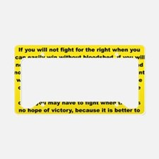 THE PRICE OF FREEDOM yard sig License Plate Holder