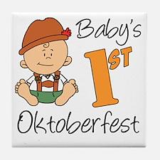 Babys First Oktoberfest Tile Coaster