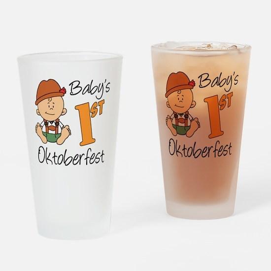 Babys First Oktoberfest Drinking Glass