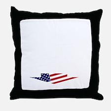 congrats_wht-flg Throw Pillow