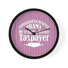 congrats-sq-pink Wall Clock
