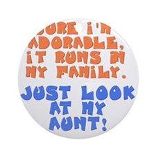 runs-in-family-aunt Round Ornament