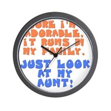 runs-in-family-aunt Wall Clock