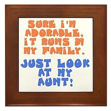 runs-in-family-aunt Framed Tile