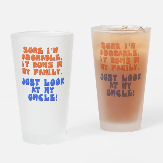 runs-in-family-uncle Drinking Glass