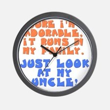 runs-in-family-uncle Wall Clock