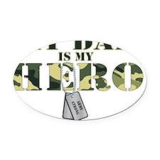 Dad Hero Oval Car Magnet
