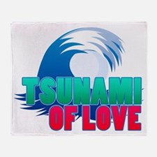 2-tsunamioflove Throw Blanket