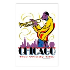 Chicago Jazz Guy Postcards (Package of 8)