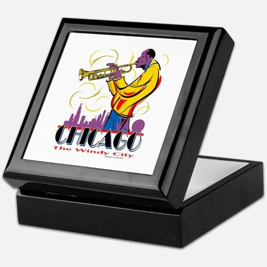 Chicago Jazz Guy Keepsake Box