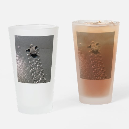 Baby Turtle Drinking Glass