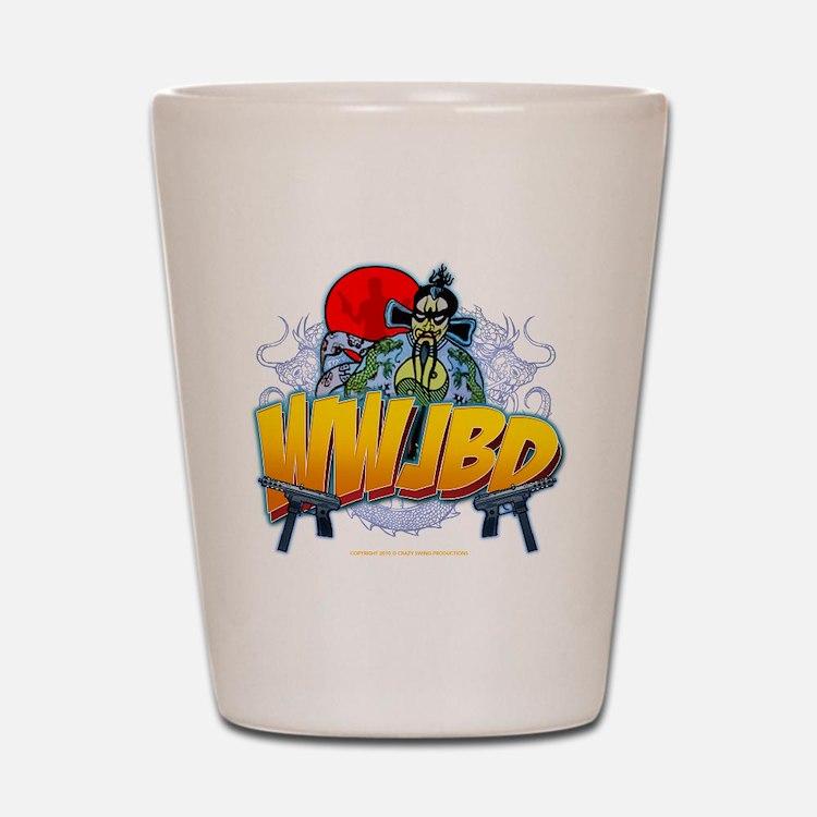 wwjbd_whiteshirt Shot Glass