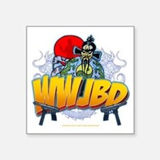 "wwjbd_whiteshirt Square Sticker 3"" x 3"""