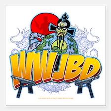 "wwjbd_whiteshirt Square Car Magnet 3"" x 3"""
