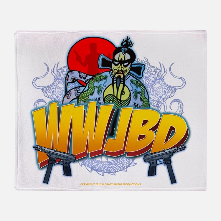 wwjbd_whiteshirt Throw Blanket