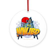 wwjbd_whiteshirt Round Ornament