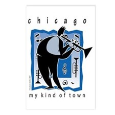 Chicago Trumpet Guy Postcards (Package of 8)