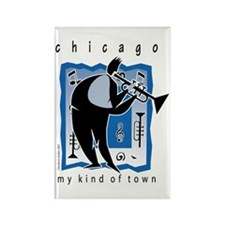 Chicago Trumpet Guy Rectangle Magnet