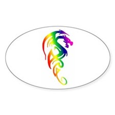 Tribal Dragon Oval Decal
