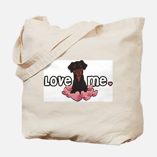 Love Me Doberman Tote Bag