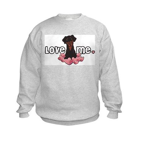 Love Me Doberman Kids Sweatshirt
