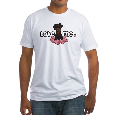 Love Me Doberman Fitted T-Shirt