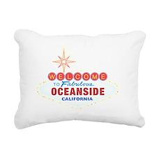 OCEANSIDE Rectangular Canvas Pillow