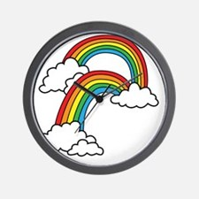doublerainbow2 Wall Clock
