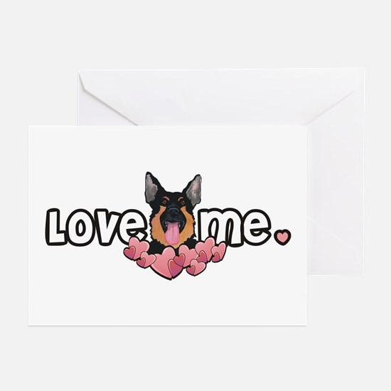 Love Me German Shepherd Greeting Cards (Package of