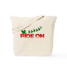 Santa Ride On Tote Bag