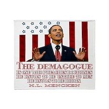 Demogogue darks Throw Blanket