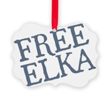 free-elka-blue Ornament