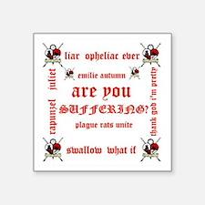 "emilie autumn Square Sticker 3"" x 3"""