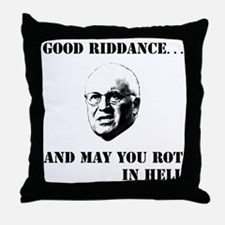 2-cheney hell b Throw Pillow