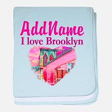 LOVE BROOKLYN baby blanket