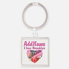 LOVE BROOKLYN Square Keychain