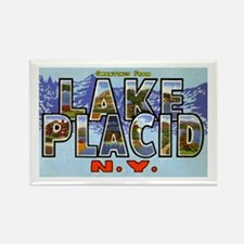 Lake Placid New York Rectangle Magnet