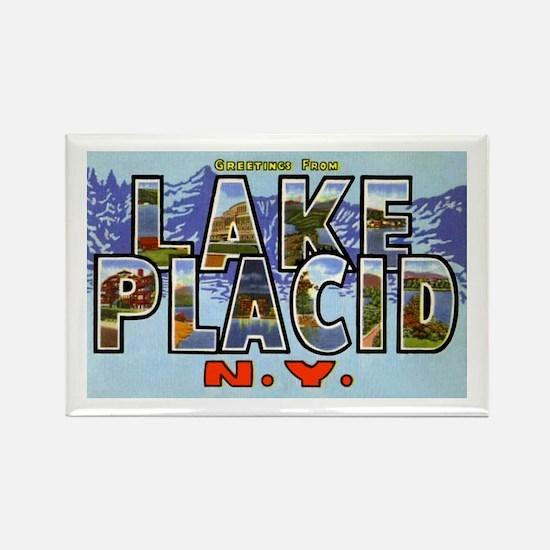 Lake Placid New York Rectangle Magnet