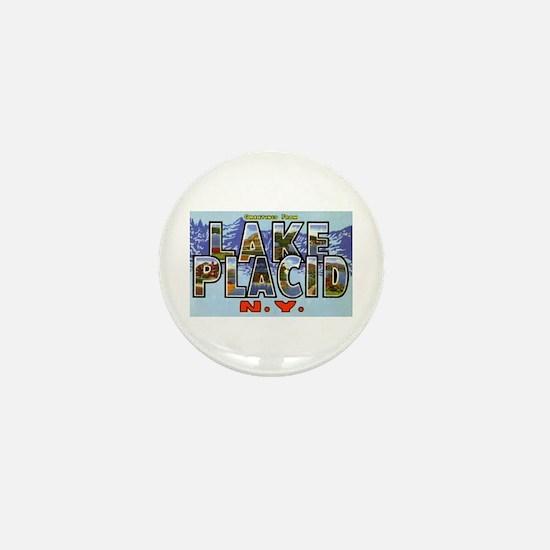 Lake Placid New York Mini Button