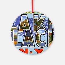 Lake Placid New York Ornament (Round)