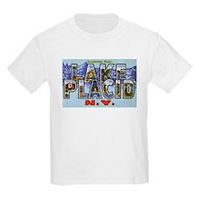 Lake Placid New York (Front) Kids T-Shirt