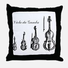 Viola da Gamba Throw Pillow
