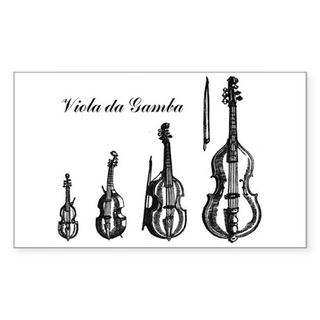 Viola da Gamba Rectangle Sticker