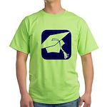 Graduation Cap Green T-Shirt
